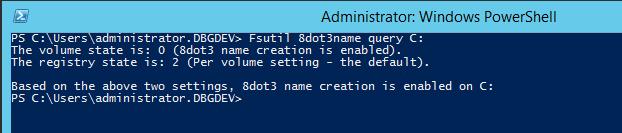 Screenshot of FSUTIL