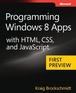 Programming Windows 8 Apps  with HTML, CSS and JavaScript Book Cover