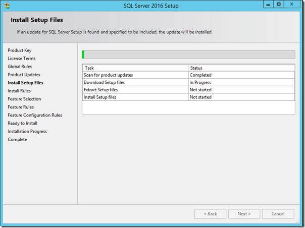 SQL Server 2016 Install Setup
