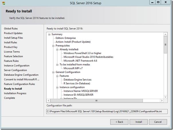 SQL Server 2016 Ready To Install