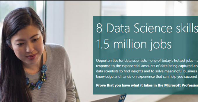 Data science track Microsoft Professional Program