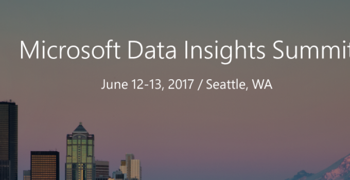Microsoft Data Insights Summit Header