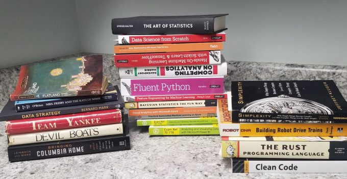 Pile of books to read