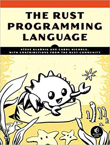 The Rust Programming Language Book Cover