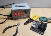 Desktop power supply unit converted to benchtop unit