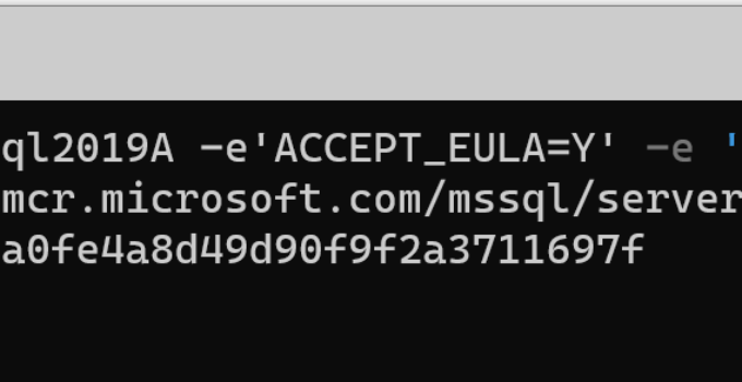 Step-by-Step Win10 and SQL Server with Docker Volumes